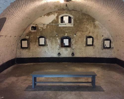 The Donald, Zaaloverzicht van installatie van 24 tekeningen op plaatmateriaal, 21 x 30 cm, Fort bij Asperen, 2018