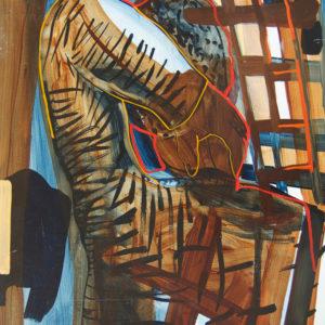 De Tempo Mann, Olieverf op paneel, 50x65 cm