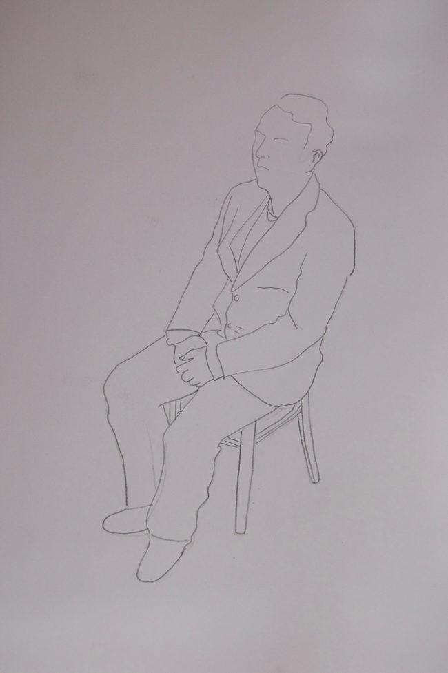 Die Macher, schetsen, potlood op papier, ca 23*35 cm
