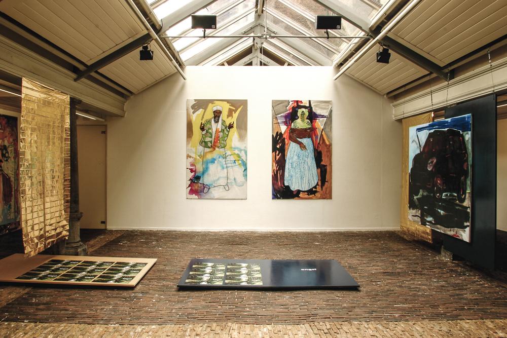 Angst, staged painting, installatie tijdens tentoonstelling De Idioot, De Vishal 2004, Haarlem