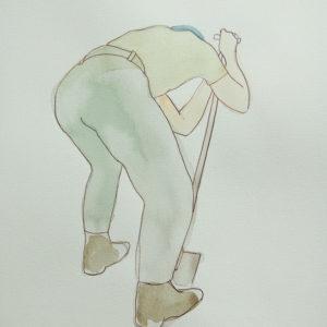 Don't Shoot the Pianoplayer, Aquarel, 25 x 40 cm