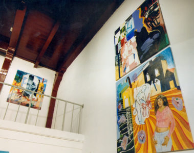 Zaalbeeld, met serie Build up, pull down, in tentoonstellingsruimte de Twee wezen, Enkhuizen