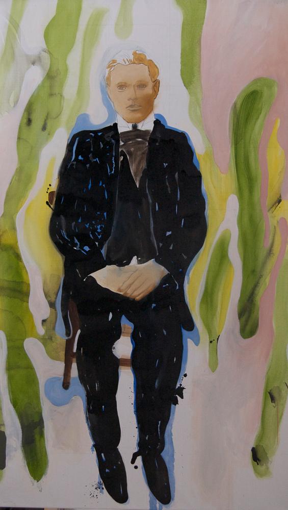 Die Macher 4, Olieverf op doek, 90 x 160 cm, 2009/2010