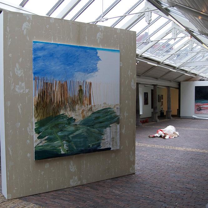 In Flanders Fields, installatie , schilderij, behangpapier, Vishal Haarlem, june 2012