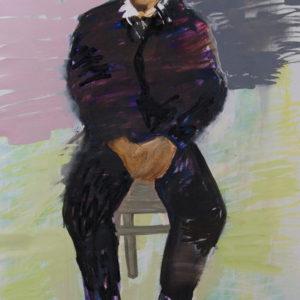 Die Macher 5, Olieverf op doek, 90 x 160 cm, 2009/2010