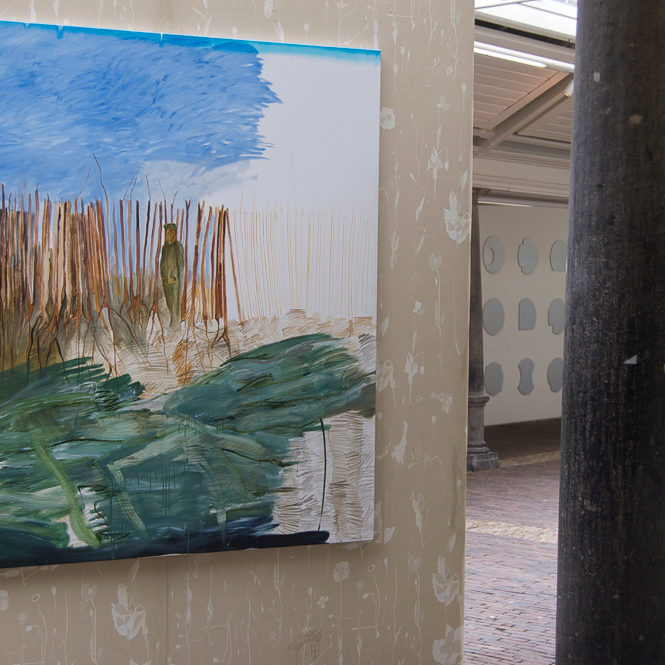 In Flanders Fields, installatie, schilderij, behangpapier, Vishal Haarlem, juni 2012