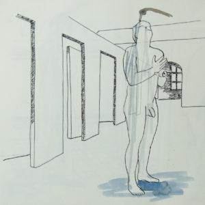 The Washing, Tekening, 50x 56, 2013