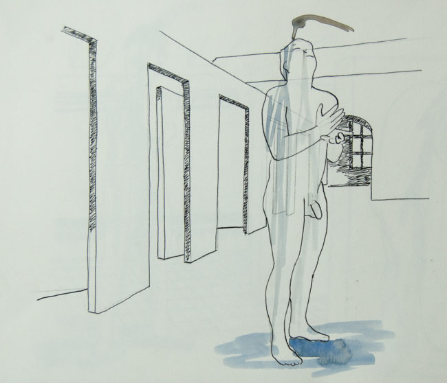The Washing, Tekening, 50x 56, 2013