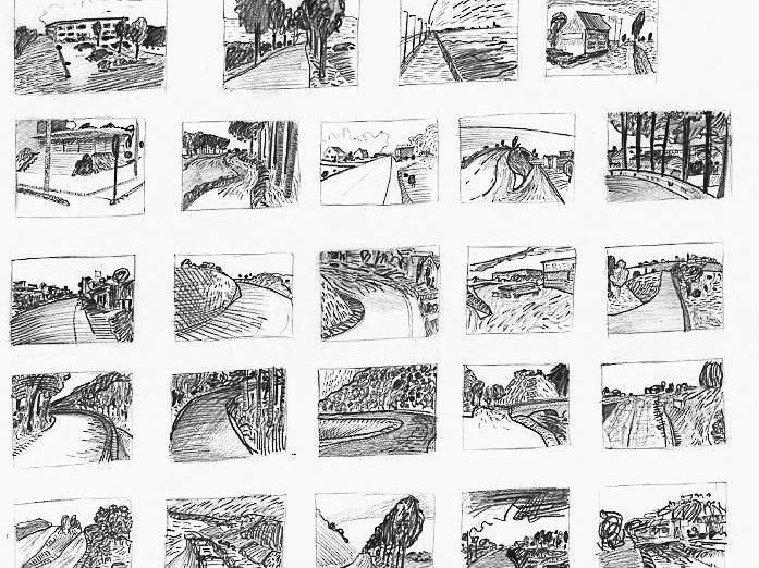 The Moment, ca 20 x 30 cm, tekeningen, in diverse collecties