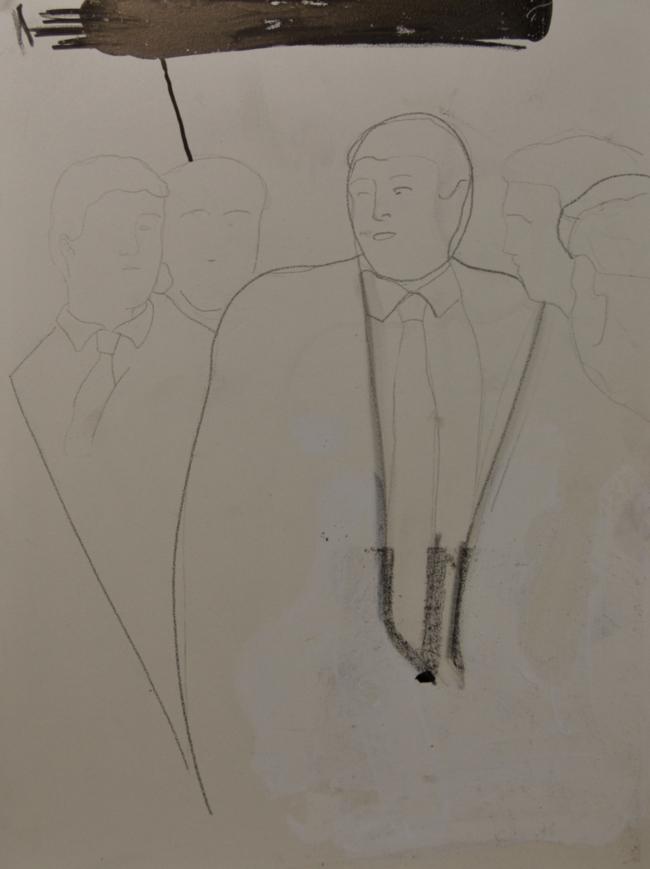 The Donald, 24 tekeningen op plaatmateriaal, 21 x 30 cm, Fort bij Asperen, 2018